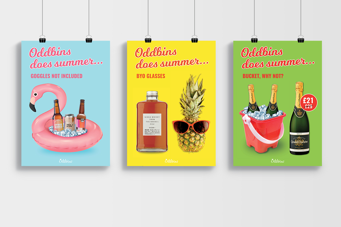 ODDBINS Instore Posters