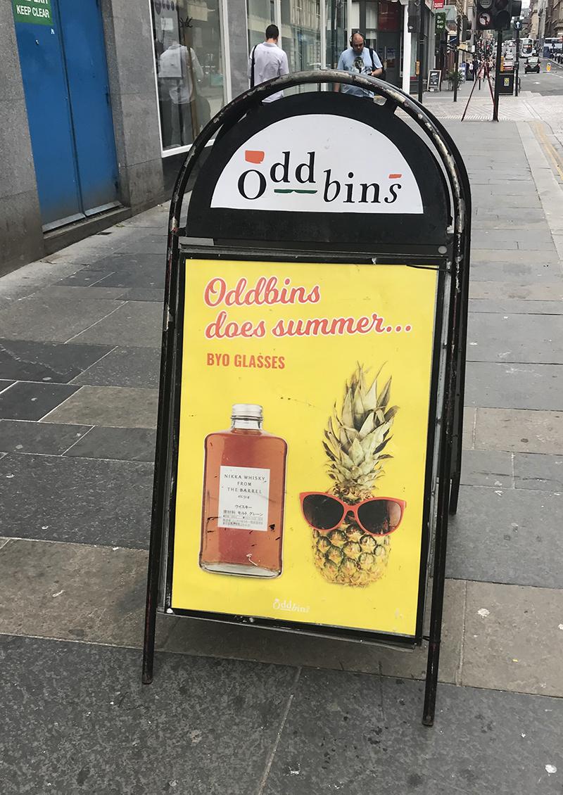 ODDBINS A-Board Signage