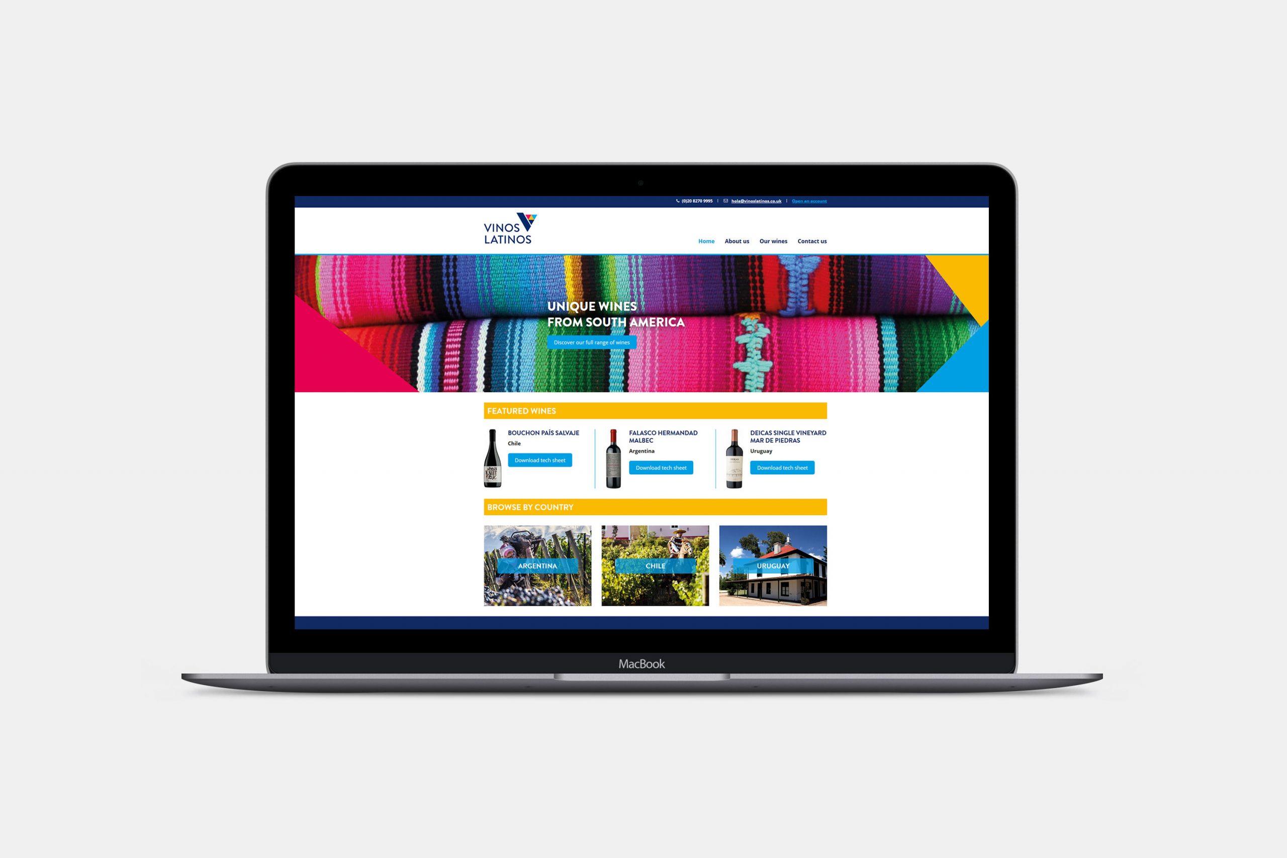 Vinos Latinos Website