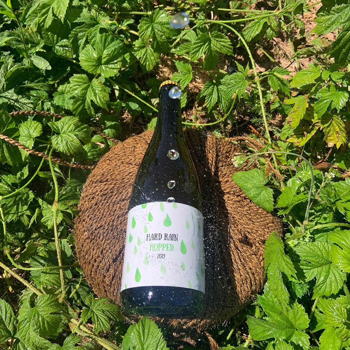 Little Pomona Hard Rain Hopped Bottle shot