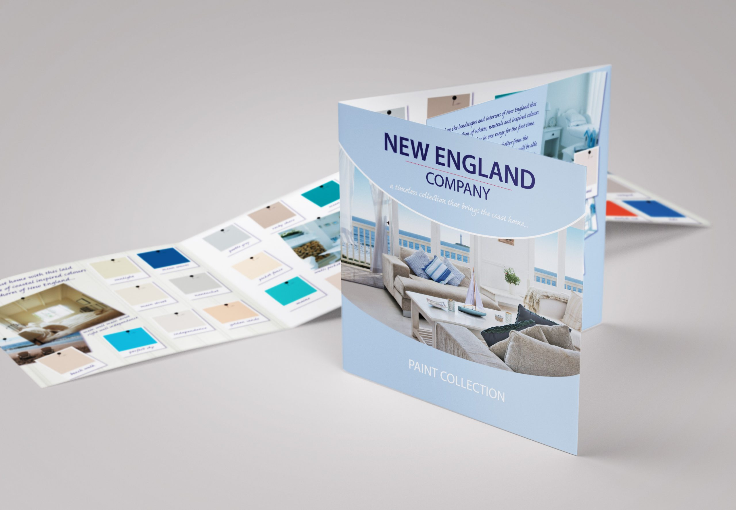 New England Paint Colour Card